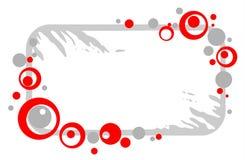 Grunge circles frame Stock Image