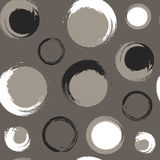 Grunge circles on grey-brown or taupe background Royalty Free Stock Images