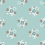 Grunge circles on a light greenish blue background Stock Image