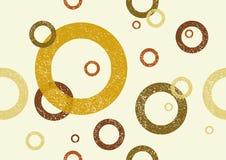 Grunge circles retro vintage seamless repeating pattern. Royalty Free Stock Photo