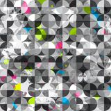 Grunge circles seamless pattern Stock Photos