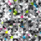 Grunge circles seamless pattern Stock Photos