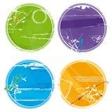 Grunge circles - vector Stock Image