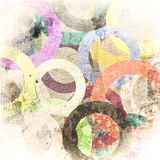 Grunge circles on the wall. Abstract background Royalty Free Stock Photos