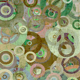 Grunge circles on the wall Royalty Free Stock Images