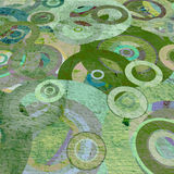Grunge circles on the wall. Abstract background Royalty Free Stock Photo