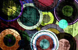 Grunge circles on the wall. Abstract background Stock Images