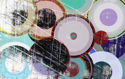 Grunge circles on the wall. Abstract background Stock Photography