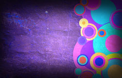 Grunge circles on the wall. Abstract background Royalty Free Stock Images