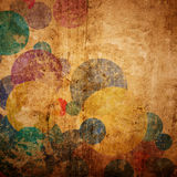 Grunge circles on the wall stock photos