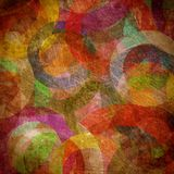 Grunge circles on the wall. Abstract background Stock Photo