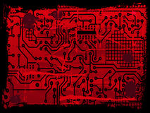 Grunge Circuit Board effect Royalty Free Stock Photos