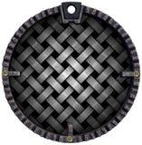 Grunge circular e fundo trançado do metal Fotografia de Stock