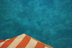 Grunge Circus Tents. Grunge striped circus tents and sky Royalty Free Stock Images
