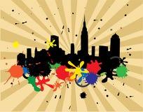 Grunge city Stock Image