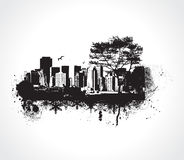 Grunge city vector illustration