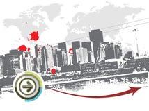 Grunge city Stock Images