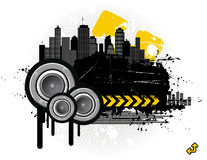 Grunge in the city vector illustration
