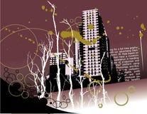 Grunge city background Stock Photography