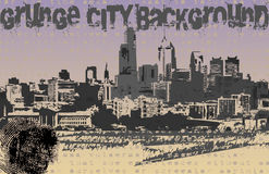 Grunge City Background Vector. Browse my gallery for more vector images Royalty Free Stock Photography