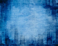Grunge city blue Stock Image