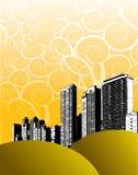 Grunge city design Stock Photography