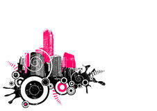 Grunge City In The Corner. Vector Royalty Free Stock Image