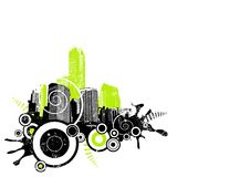 Grunge City In The Corner. Vector Stock Images