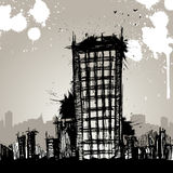 Grunge city vector Stock Images