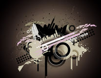 Grunge city vector illustration Royalty Free Stock Photography
