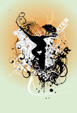 Grunge city vector illustration Stock Photo