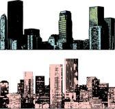 Grunge cityscape stock illustration