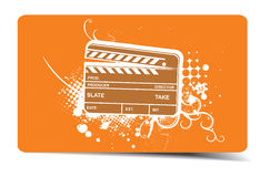 Grunge clapper board. Vector grunge modern colored clapper board with white board Stock Images