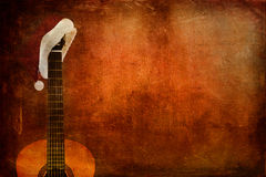 Grunge Classic Guitar Royalty Free Stock Photography