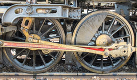 Grunge Classic Transport Steam Train Wheels, Vintage Style Royalty Free Stock Photography