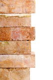 Grunge clay brick border Stock Photography