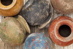 Grunge clay pots Royalty Free Stock Photography