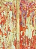 grunge click предпосылки большое больше моего портфолио ржавого Грубая красная и желтая металлическая текстура стоковая фотография