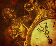 Grunge clock Stock Images