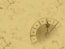 Grunge clock royalty free stock photo