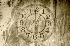 Grunge clock backdrop Royalty Free Stock Photos
