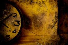 Grunge Clock Background Stock Photo