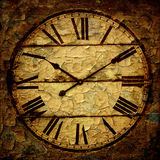 Grunge clock frame Royalty Free Stock Photos