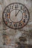 Grunge clock vertical background Royalty Free Stock Photo