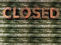 Grunge - closed sign Royalty Free Stock Images