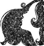 Grunge closeup portrait of woman Stock Image