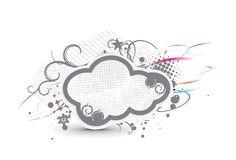 Grunge cloud banner Stock Photography