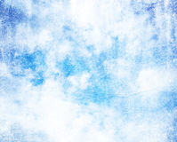Grunge cloud on old paper crumpled background.  Royalty Free Stock Photos