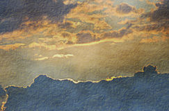 Grunge Clouds Parchment Stock Image