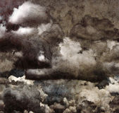 Grunge clouds on recycle paper. Royalty Free Stock Image